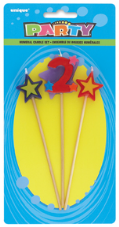 Number Two 2 Number Stars Birthday Cake Candles